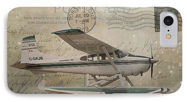 Cessna Skywagon 185 On Vintage Postcard IPhone Case