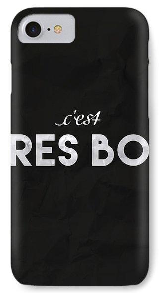 French iPhone 8 Case - C'est Tres Bon by Samuel Whitton