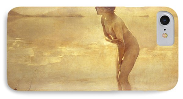 Nudes iPhone 8 Case - Chabas, September Morn by Paul Chabas