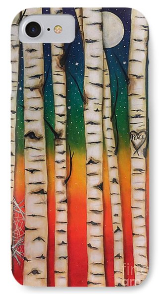 Chakra Rainbow Forest IPhone Case