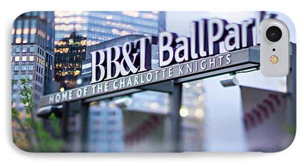 Charlotte Nc Usa  Bbt Baseball Park Sign  IPhone Case
