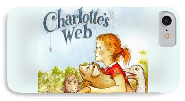 Whimsical iPhone 8 Case - Charlottes Web by Elizabeth Coats