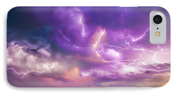 Nebraskasc iPhone 8 Case - Chasing Nebraska Lightning 056 by NebraskaSC