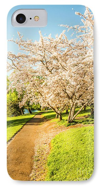 Beauty In Nature iPhone 8 Case - Cherry Blossom Lane by Jorgo Photography - Wall Art Gallery