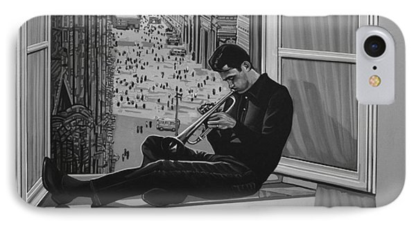 Trumpet iPhone 8 Case - Chet Baker by Paul Meijering