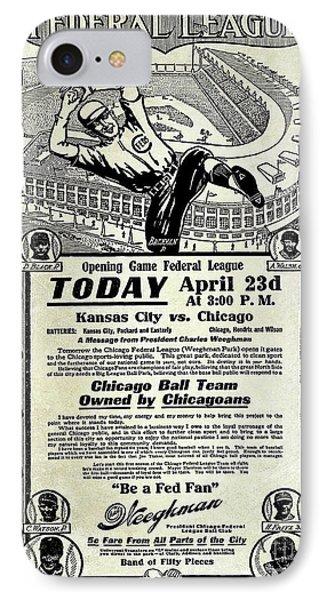 Chicago Cub Poster IPhone Case