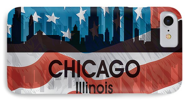 Chicago Il American Flag Squared IPhone Case