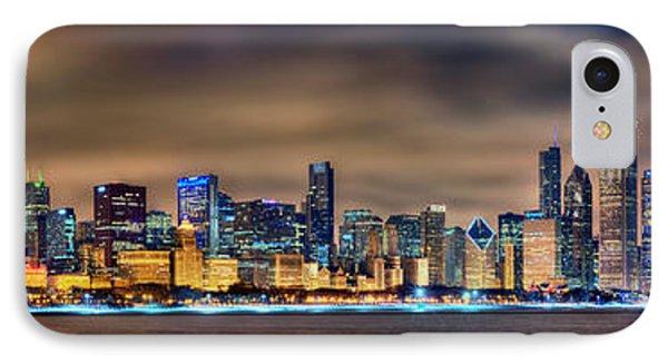 Chicago Skyline At Night Panorama IPhone Case