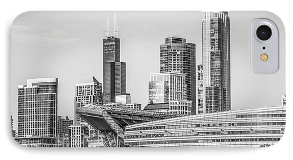 Chicago Skyline With Soldier Field And Willis Tower  IPhone Case