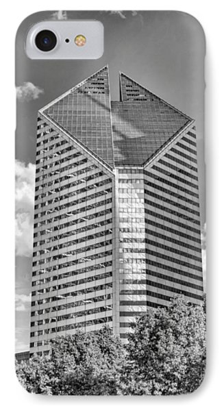 IPhone Case featuring the photograph Chicago Smurfit-stone Building Black And White by Christopher Arndt