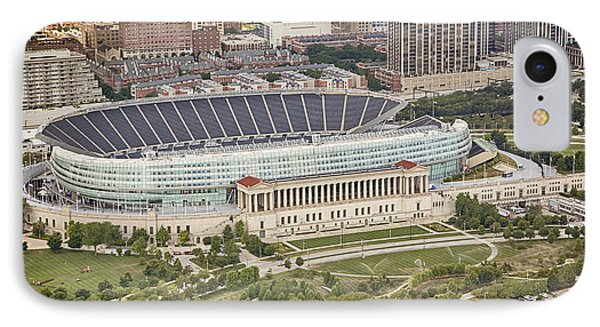 Chicago's Soldier Field Aerial IPhone Case