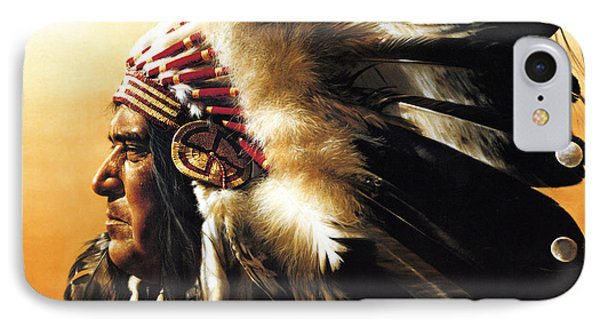 Portraits iPhone 8 Case - Chief by Greg Olsen