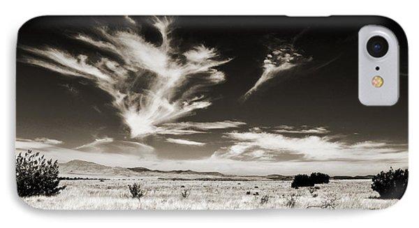 Chihuahuan Desert In Sepia IPhone Case