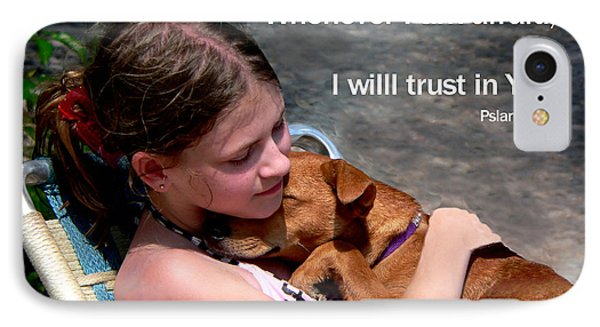 Child And Puppy Psalms IPhone Case