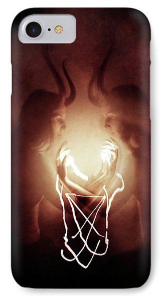 Magician iPhone 8 Case - Children Of Fire by Cambion Art