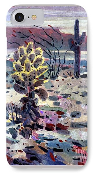 Cholla Saguargo And Ocotillo IPhone Case
