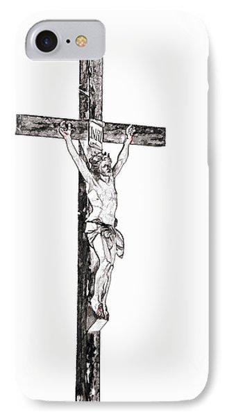 Christ On Cross IPhone Case