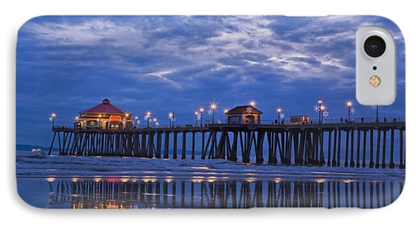 Christmas At The Huntington Beach Pier IPhone Case