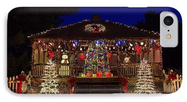 Christmas At The Lighthouse Gazebo IPhone Case