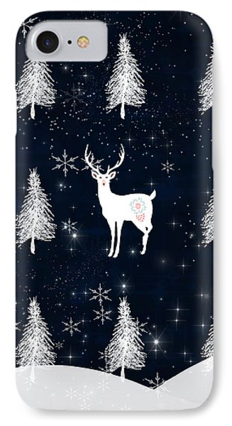 Christmas Eve - White Stag IPhone Case