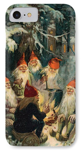 Elf iPhone 8 Case - Christmas Gnomes by English School