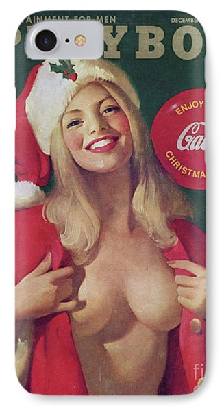 Elf iPhone 8 Case - Christmas Playboy Vintage Cover by Edward Fielding