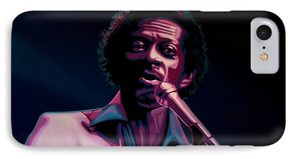 Rhythm And Blues iPhone 8 Case - Chuck Berry by Paul Meijering