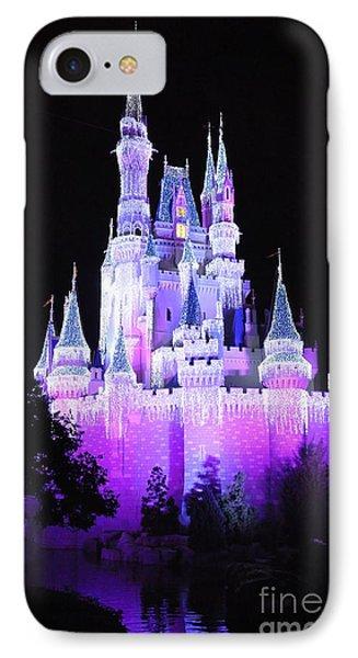 Cinderella's Holiday Castle IPhone Case