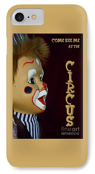 IPhone Case featuring the photograph Circus Clown By Kaye Menner by Kaye Menner