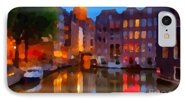 City Block 900 Soft And Dreamy In Thick Paint IPhone Case