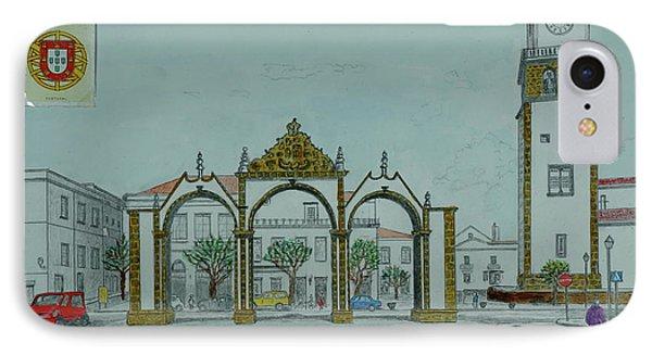 City Gates, San Miguel,azores IPhone Case