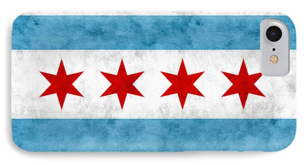 IPhone Case featuring the mixed media City Of Chicago Flag by Christopher Arndt