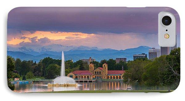 City Park Sunset IPhone Case