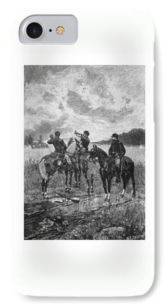 Civil War Soldiers On Horseback IPhone Case