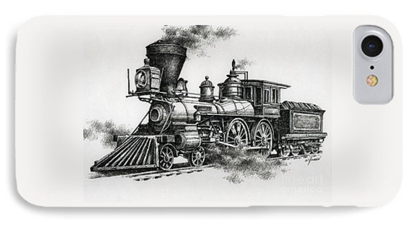 Train iPhone 8 Case - Classic Steam by James Williamson