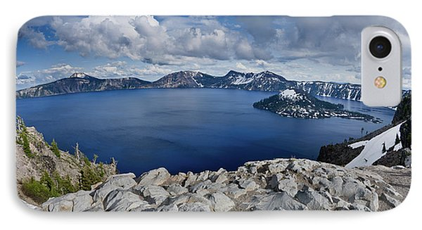 Clearing Storm At Crater Lake IPhone Case