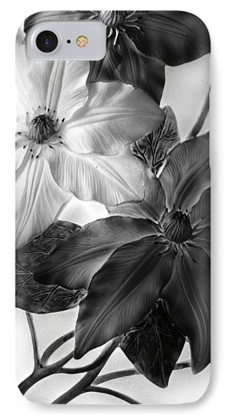 Clematis Overlay IPhone Case
