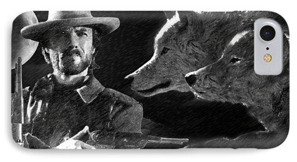 Clint Eastwood With Wolves IPhone Case