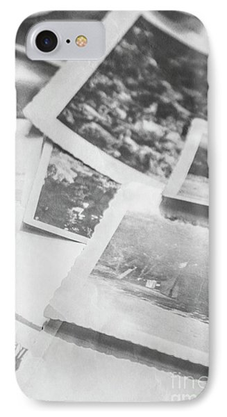 Close Up On Old Black And White Photographs IPhone Case