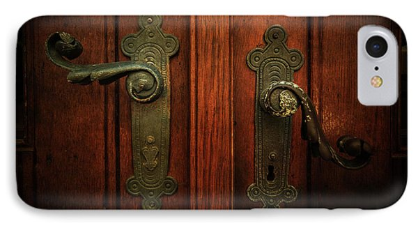 Closeup Of Two Ornamented Handles IPhone Case