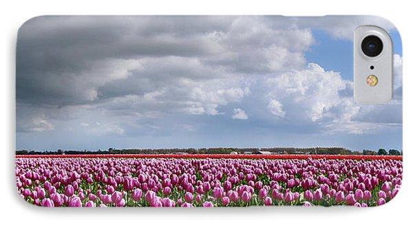 Clouds Over Purple Tulips IPhone Case