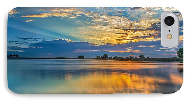 Clouds Reflected At Sunrise IPhone Case