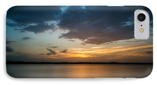 Cloudy Lake Sunset IPhone Case