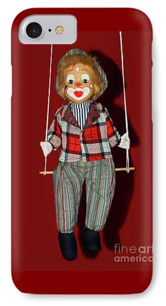 IPhone Case featuring the photograph Clown On Swing By Kaye Menner by Kaye Menner