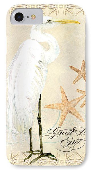 Coastal Waterways - Great White Egret IPhone Case