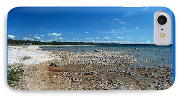 Coastline Of Lake Michigan  Near Petoskey State Park - Little Traverse Bay IPhone Case