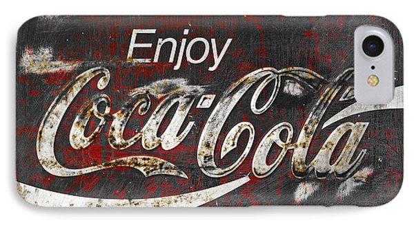 Coca Cola Grunge Sign IPhone Case