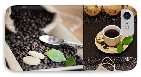 Coffee Collage Photo IPhone Case
