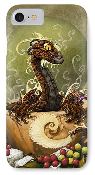 Dragon iPhone 8 Case - Coffee Dragon by Stanley Morrison