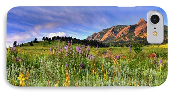Landscape iPhone 8 Case - Colorado Wildflowers by Scott Mahon